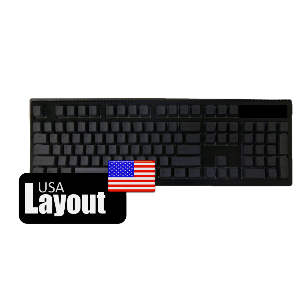 Tai-Hao PBT Double Shot Keycaps Black Black USA